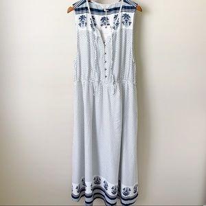 NEW Lucky Brand Print Maxi Dress • XL